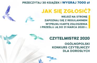"""Zostań """"Czytelmistrzem 2020"""" i wygraj 7000 zł"""